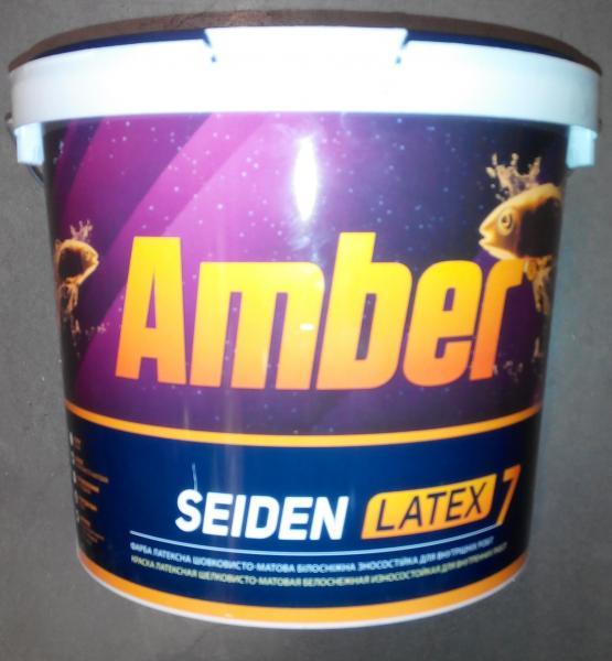 Краска стойкая к мытью шелковистая Amber SEIDEN LATEX 7 , 5 л