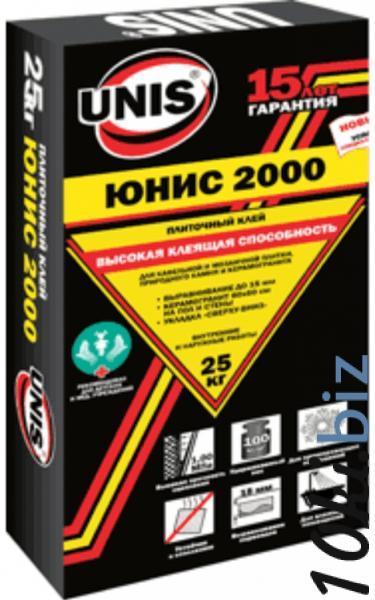 """Клей плиточный """"Юнис-2000"""" 25кг купить в Тамбове - Отделочные материалы с ценами и фото"""