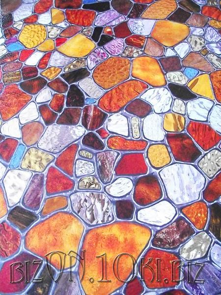 «Витражное Стекло» (First Stain Glass)  фактурная пленка  0,61*0,91м          (Арт. Т73) витражные плёнки для окон и дверей