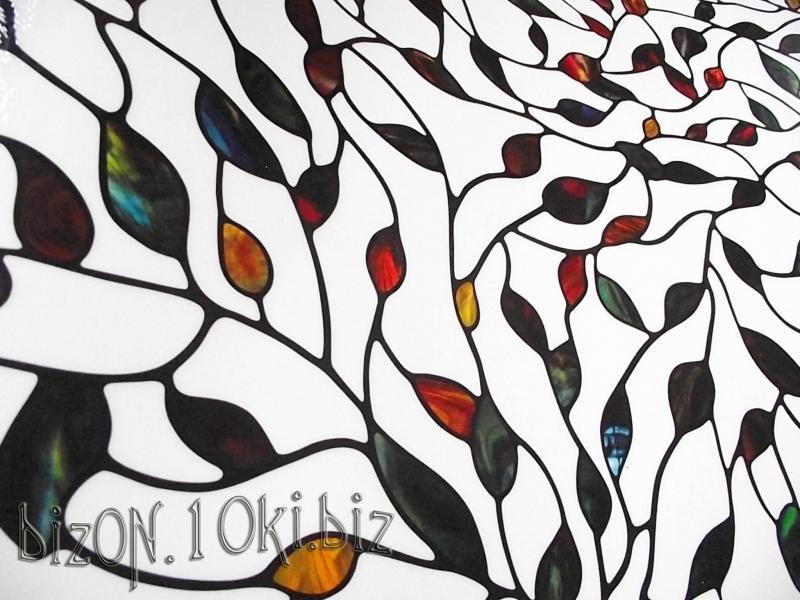 НЕТ В НАЛИЧИИ!   «Новые Листья» (New Leaf)  фактурная пленка  0,61*0,91м          (Арт. Т74) витражные плёнки для окон и дверей