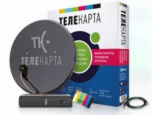 Фото Спутниковые антенны и оборудование Комплект спутнокового телевидения Телекарта ТВ SD
