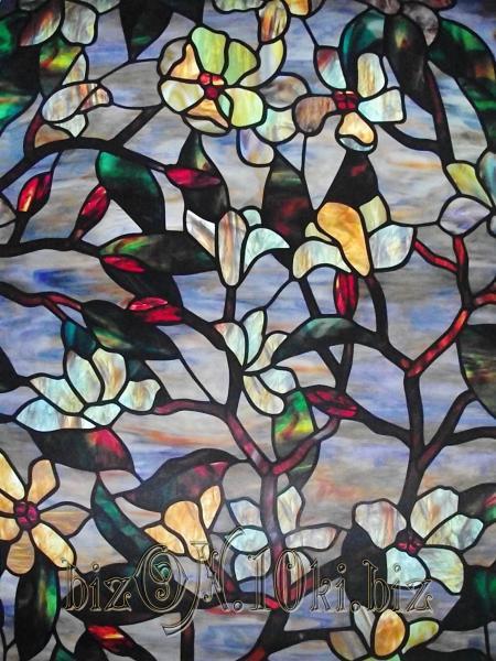 «Летняя Магнолия» (Summer Magnolia)  гладкая пленка  0,61*0,91м          (Арт. Т68) витражные плёнки для окон и дверей