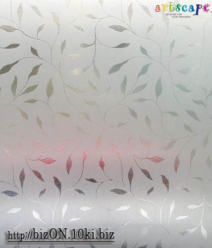 НЕТ В НАЛИЧИИ!   «Матовые Листья» (Etched Leaf)  фактурная пленка  0,61*0,91м          (Арт. Т77) витражные плёнки для окон и дверей