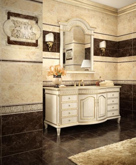 Плитка для ванной «Emperador» украинского завода InterCerama.