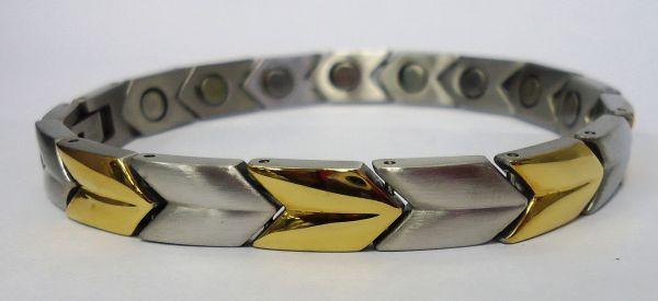 Стальной магнитный браслет ЛАУРА