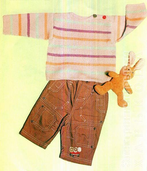 Свитер в полоску с пуговицами, р. 56-62 - Свитеры детские для мальчиков на рынке Барабашова