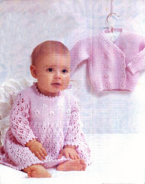 Платье вязаное + кофта на пуговицах, р. 74-80