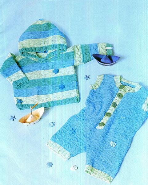 Пуловер и комбинезон, р. 62-68