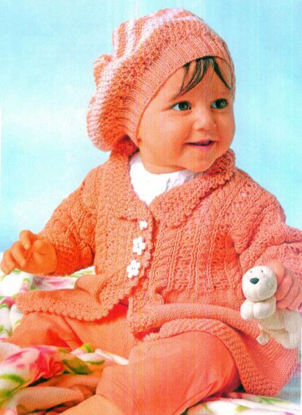 Жакет, пуловер и шапочка, р. 56-62