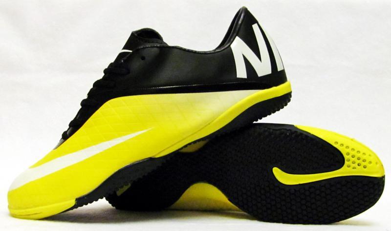 Бампы Nike Hypervenom черно-желтые