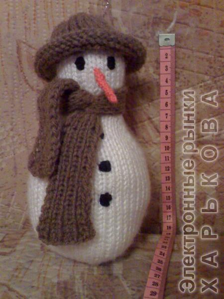 Снеговик в шляпе - Новогодние фигурки Снегурочки, Деда Мороза на рынке Барабашова