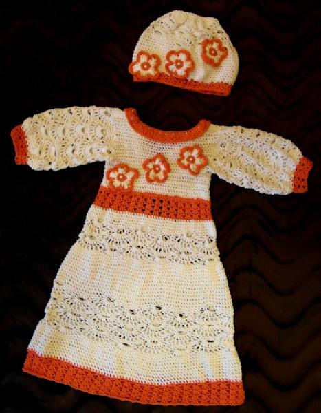 Ажурное платье и шапочка, для любого праздника
