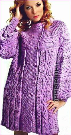 вязаное пальто пальто женское купить с фото и ценами на рынке