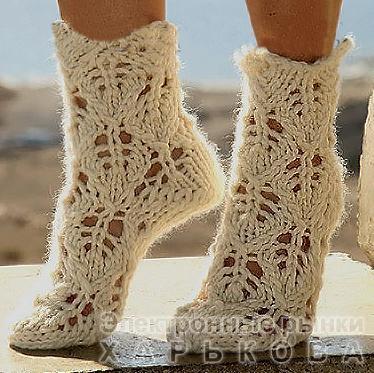 Ажурные носки - Колготы и чулки женские на рынке Барабашова