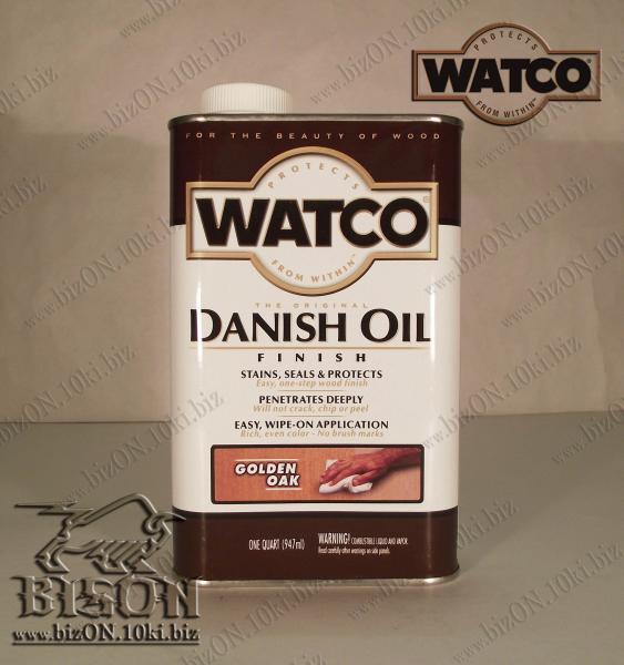 Датское финишное масло для обработки дерева   «WATCO»     Danish Oil Finish,       Golden Oak (Золотой дуб),    947ml,          (Арт. Т99)