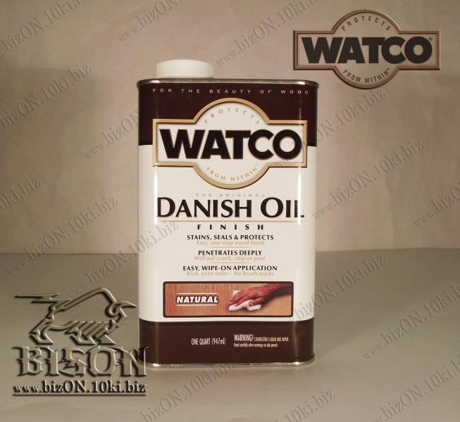 Датское финишное масло для обработки дерева   «WATCO»     Danish Oil Finish,       Natural (Природный),    947ml,          (Арт. Т100)