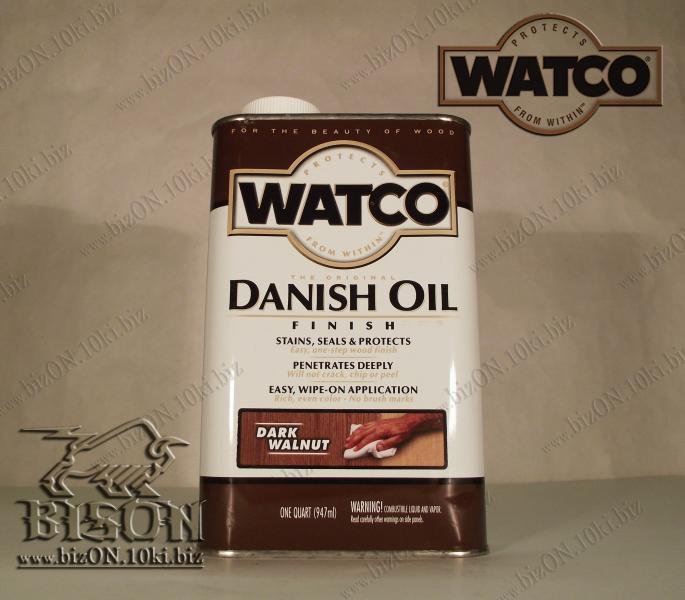Фото Защитные покрытия для деревянных поверхностей  «WATCO» Датское финишное масло для обработки дерева   «WATCO»     Danish Oil Finish,       Dark Walnut (Темный орех),    947ml,          (Арт. Т101)