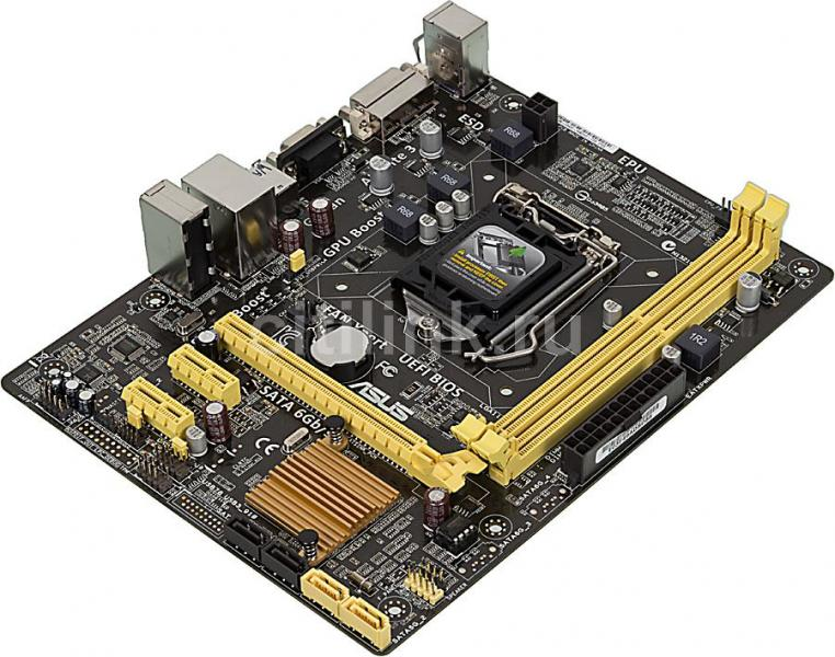 Материнская плата S-1150 ASUS H81M-K (H81, 2*DDR3, PCIx16, 2*PCIx1, 2*SATA3+2*SATA2, USB3.0, Dsub+DVI, mATX), Retail