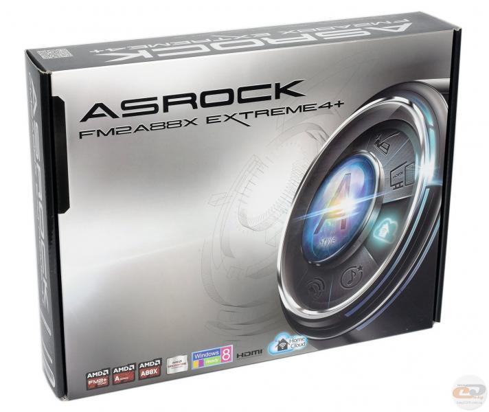 Материнская плата S-FM2 ASRock FM2A88X EXTREME4+ (A88X, 4*DDR3 2400, 2*PCI-E, 3*PCI, D-Sub+DVI+HDMI+eSATA, 7*SATA3, 6*USB3.0, GbE LAN, RAID) mATX