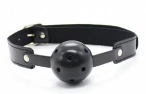 Фото БДСМ 4002К Кляп с шаром черный