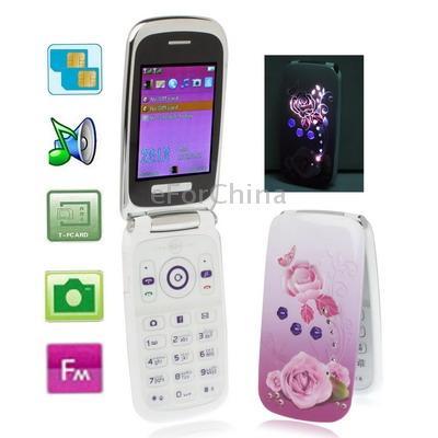 Мобильный телефон Samsung w666 раскладушка розочки фиолетовый (Bfour)