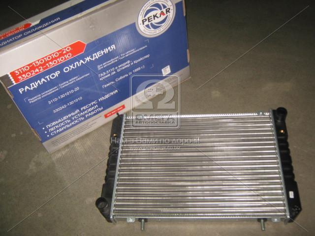 Радиатор ГАЗ-2217, СОБОЛЬ  охлаждения  (под рамку)330242-1301010 (пр-во ПЕКАР)