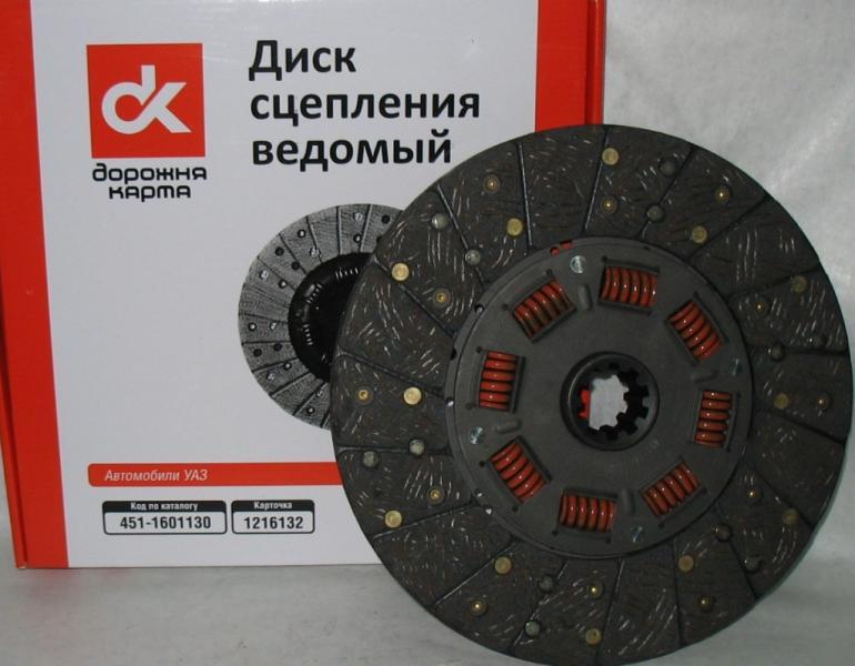 Диск сцепления ведомый  ГАЗ 406 <ДК>406-1601130