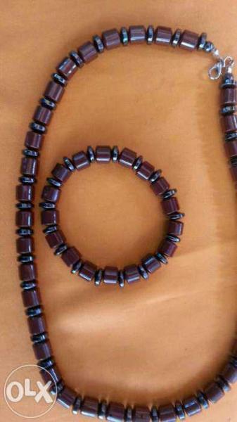 Турмалиновые бусы и браслет