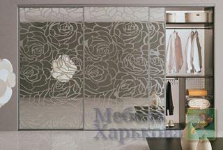 пескоструйный рисунок на зеркале - Изготовление мебели на заказ в Харькове