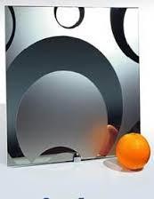 Фото Наполнение двери (фотопечать, химтравление, покраска) Химтравление на зеркале