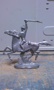 Фото антиквар, Игрушки Солдатик на коне