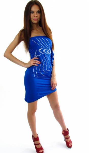 Мини-платье 48 (синий)