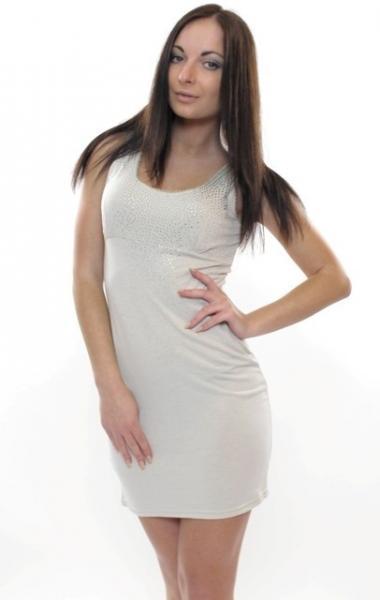 Мини-платье 39 (беж)