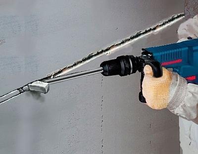 Штроба под кабель в бетоне с укладкой кабеля