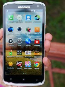 Фото  Lenovo S920. 4 ядра