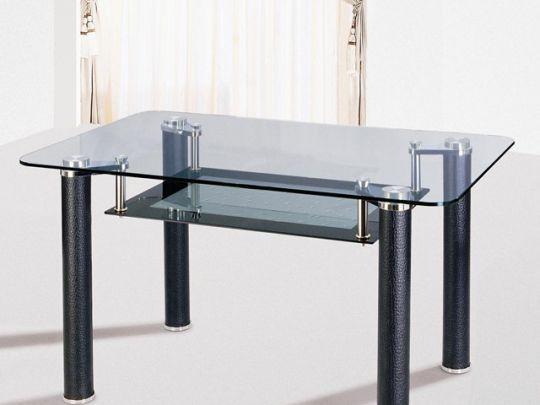 Стол обеденный DF-043PVS (черн.кожа)