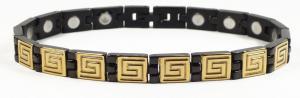 Фото Магнитные браслеты, Стальные Магнитный стальной браслет Афродита с черным ионным покрытием