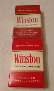 Фото антиквар, Фумофилия Пачка от сигарет Winston