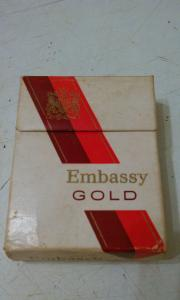 Фото антиквар, Фумофилия Пачка от сигарет Embassy GOLD