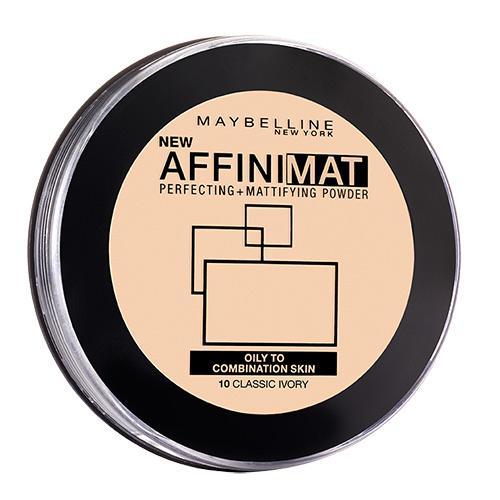 Компактная пудра Affinimat Maybelline матирующая №10 светло-бежевый.