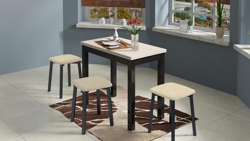 Стол обеденный «Диез Т14»(венге-штрих/лак)