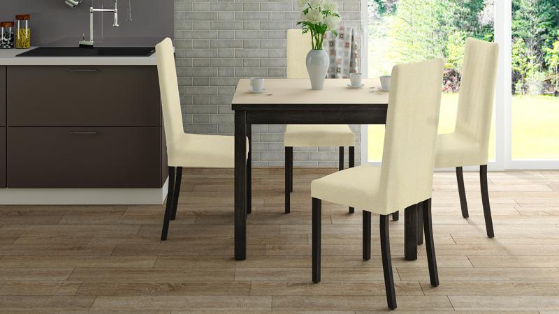 ТриЯ-Стол обеденный раздвижной со стеклом «Диез Т5»