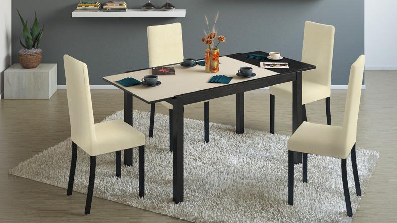 ТриЯ-Стол кухонный раскладной со стеклом «Диез Т4»