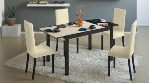 Фото Столы обеденные ТриЯ-Стол кухонный раскладной со стеклом «Диез Т4»