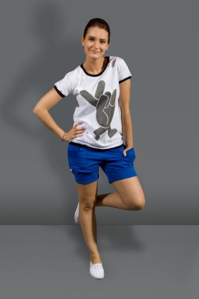 Стильная футболка женская, модель - W-082