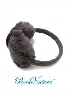 Фото Ушки Ушки зимние, крупная вязка в форме «косичка»