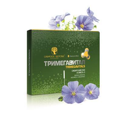 Тримегавитал. Сибирский лён и Омега-3 (Siberian linseed oil and omega-3)