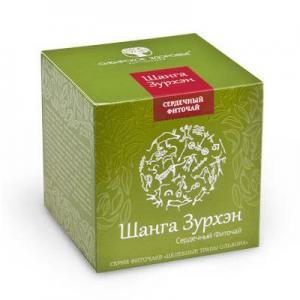Фото Здорове серце БАД Фіточай «Шанга Зурхэн» (Сильное сердце) зелена упаковка