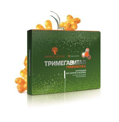 Тримегавитал. Натуральний бета-каротин і обліпиха (All-natural beta-carotene in sea buckthorn oil)
