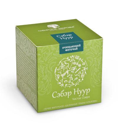 БАД Фіточай «Сэбэр Нуур» (Чисте озеро), зелена упаковка